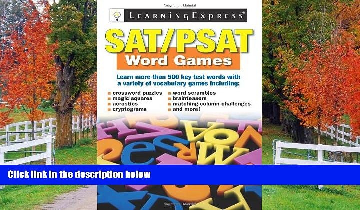 Enjoyed Read SAT/PSAT Word Games