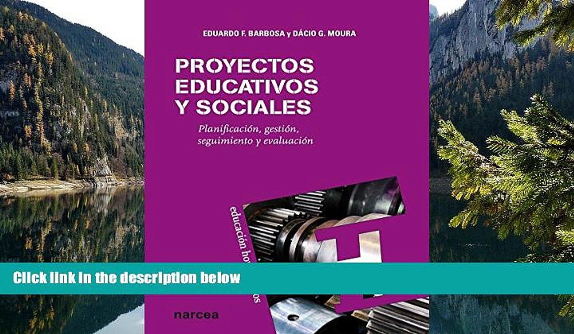 Big Deals  Proyectos educativos y sociales: Planificación, gestión, seguimiento y evaluación