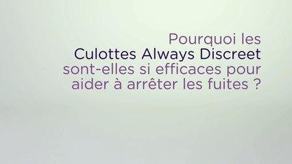 Découvrez les barrières anti-fuites des culottes Always Discreet