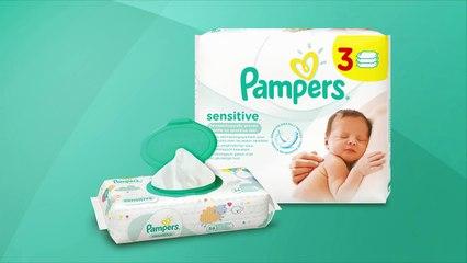 Lingettes Pampers Sensitive, pour un toilette tout en douceur