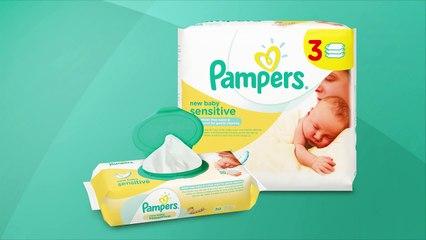 Lingettes Pampers New Baby Sensitive, plus douces que de l'eau et du coton