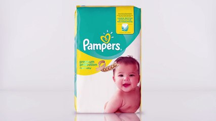 Pampers New Baby - son voile absorbant unique en action !