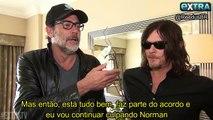 The Walking Dead 7ª Temporada: Norman Reedus e Jeffrey Dean Morgan falam sobre a premiere ao EXTRA