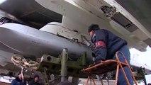 Нанесение авиаудара крылатыми ракетами по объектам террористов в Сирии самолетами Ту-95МС Дальней авиации ВКС России