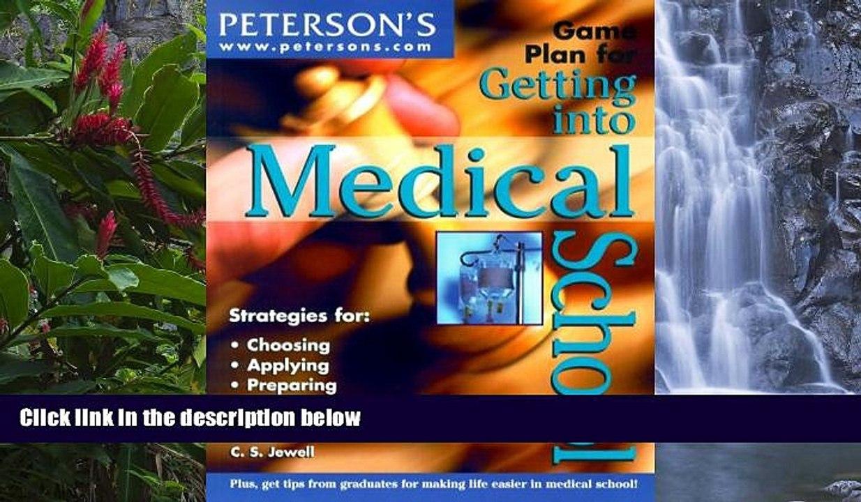Big Deals Game Plan Get into MedSch (Game Plan for Getting Into Medical  School) BOOOK ONLINE