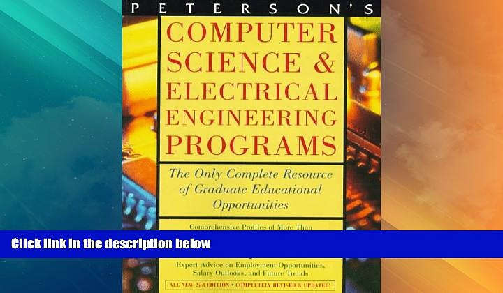 Big Sales  Peterson s Computer Science   Electrical Engineering Programs: A Complete Resource of