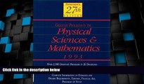 Buy NOW  Peterson s Guide to Graduate Programs in the Physical Sciences and Mathmatics 1993