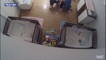 Brother Catches Baby Falling Off Changing Table