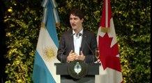 Con un brindis Macri y Tredeau celebran relación bilateral en Buenos Aires