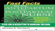 [PDF] Fast Facts for the Antepartum and Postpartum Nurse: A Nursing Orientation and Care Guide in