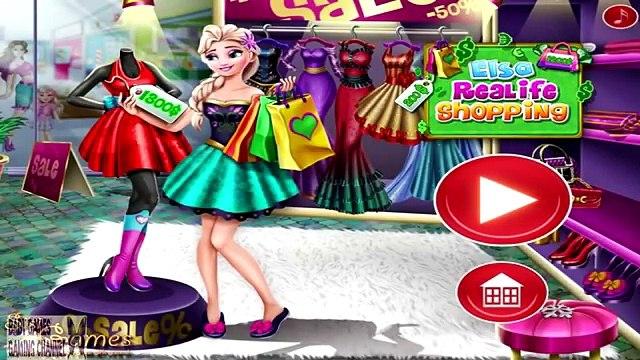 Disney Frozen Games Princess Elsa Real Life Shopping Baby Videos Games For Girls