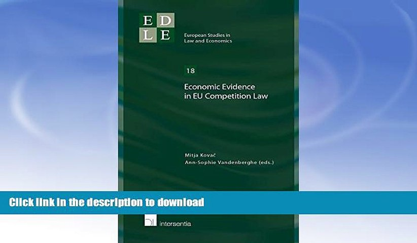 READ  Economic Evidence in EU Competition Law (European Studies in Law and Economics) FULL ONLINE