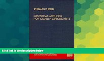 Buy NOW  Statistical Methods for Quality Improvement Thomas P. Ryan  Book