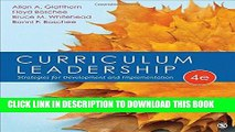 PDF Curriculum Leadership: Strategies for Development and Implementation Popular Online