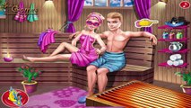 Super Barbie Sauna Flirting - Barbie Love Games For Kids