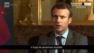 Quand Emmanuel Macron traitait les grévistes d'Air France de