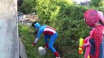 Gunfight between Three Spidey Frozen Elsa vs spiderman Joker Fun Superheroes movie in real life