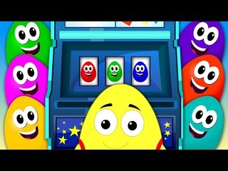 crazy eggs | slot machine Colors | the colors song | learn colors | nursery rhymes | kids songs