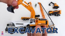 Learning Construction Vehicles Names and Sounds for Kids with new Siku Lego A+SuperheroSchool