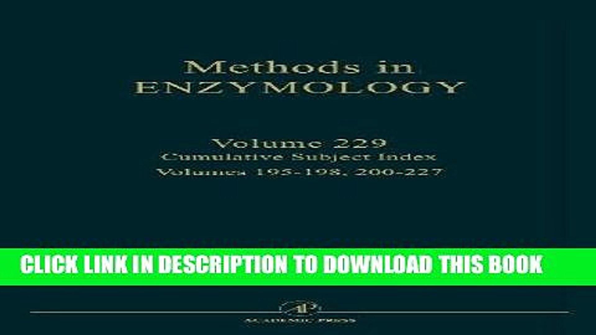 Best Seller Cumulative Subject Index, Volume 229 (Methods in Enzymology) Free Read