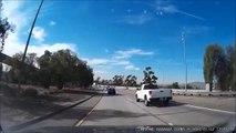 Gros accident causé par la chute d'une echelle sur l'autoroute