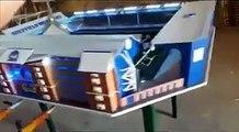 Ce fan de Foot fabrique un babyfoot version stade de football