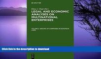 FAVORITE BOOK  Groups of Companies in European Laws / Les Groupes de Societes En Droit Europeen