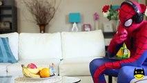 Frozen Elsas GROSS TONGUE vs Spiderman Joker Feet Pink Spidergirl Elsa Candy Funny Superheroes