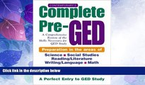 Deals in Books  Contemporary s Complete Pre-GED : A Comprehensive Review of the Skills Necessary