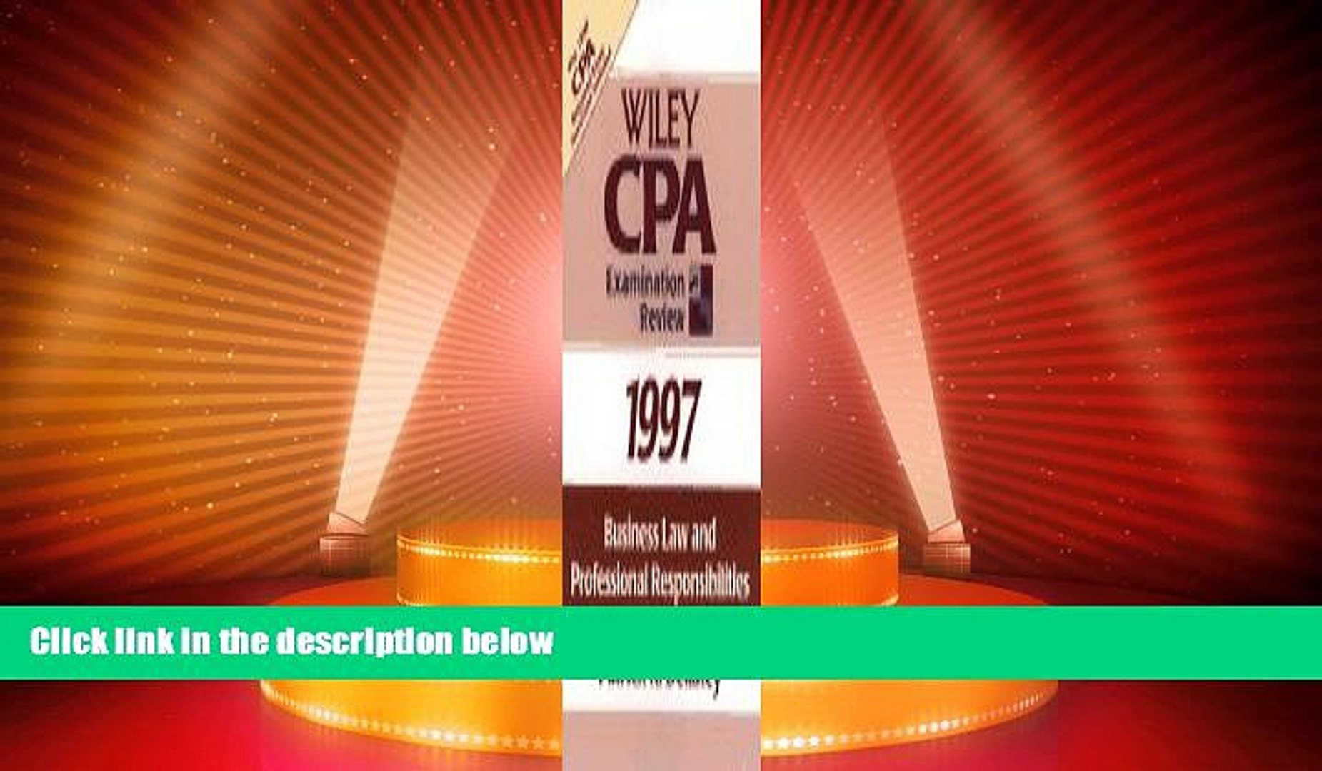Buy NOW  Business Law and Professional Responsibilities 1997 (Wiley Cpa Examination Review 1997)