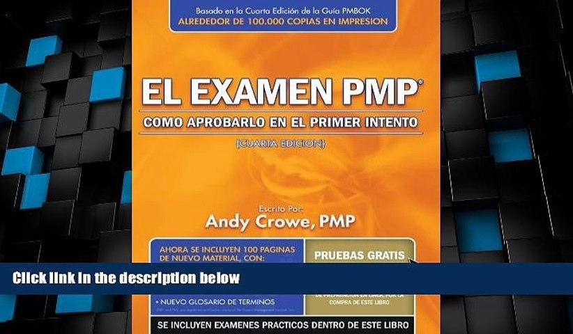 Deals in Books  By Andy Crowe PMP: El examen PMP: Como aprobarlo en el primer intento (Spanish