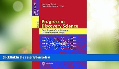 Big Sales  Progress in Discovery Science: Final Report of the Japanese Discovery Science Project