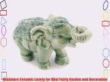 Dollhouse Miniatures Ceramic Green Elephant Incense FIGURINE Animals Decor