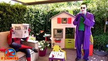 BAD Baby JOKER and Joker DAD pranks Spiderman Joker Dad turns into Bad Joker Boy Superhero movies