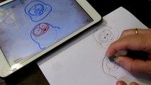 How to draw Pororo Pipi and Popo for kids Как нарисовать  Pipi and Popo мультфильм Пороро для детей