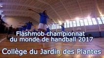 Concours FLASHMOB UNSS championnat du monde de HANDBALL 2017 AS Collège du Jardin des Plantes Poitiers