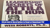 PDF Leadership Secrets of Attila the Hun Ebook Online