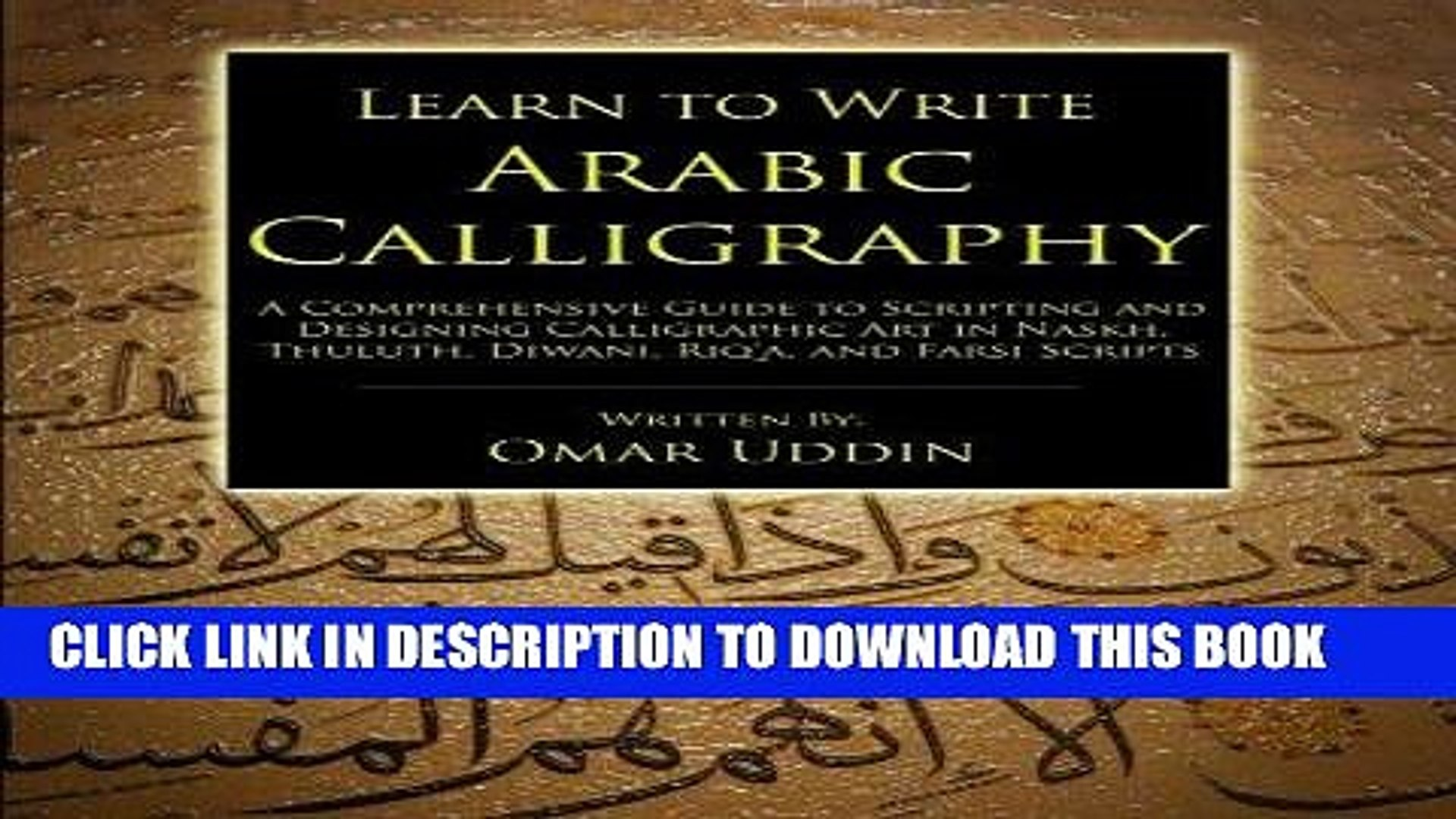 Pdf] learn to write arabic calligraphy popular collection video.