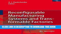 Best Seller Reconfigurable Manufacturing Systems and Transformable Factories Free Read