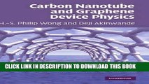 Ebook Carbon Nanotube and Graphene Device Physics Free Read