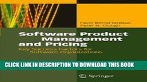 Ebook Software Product Management and Pricing: Key Success Factors for Software Organizations Free