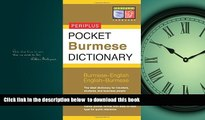Read books  Pocket Burmese Dictionary: Burmese-English English-Burmese (Periplus Pocket