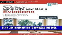 Ebook California Landlord s Law Book, The: Evictions (California Landlord s Law Book Vol 2 :