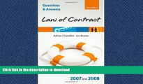 READ  Q and A: Law of Contract 2007 - 2008 (Blackstone s Law Questions and Answers) FULL ONLINE