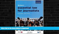 EBOOK ONLINE  McNae s Essential Law for Journalists  PDF ONLINE