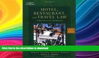 READ BOOK  Hotel, Restaurant   Travel Law FULL ONLINE