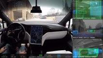 Así funciona el piloto automático de Tesla en las ciudades