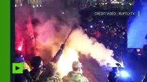 Kiev : heurts avec la police, feux sauvages… des nationalistes célèbrent l'anniversaire de Maïdan
