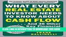 [PDF Kindle] What Every Real Estate Investor Needs to Know About Cash Flow... And 36 Other Key