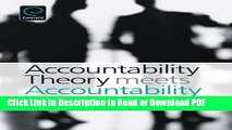 Download Accountability Theory Meets Accountability Practice Free Books